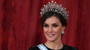 La reina Letizia, por primera vez con la tiara rusa