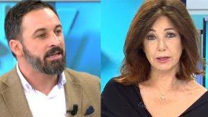 Ana Rosa Quintana y Santiago Abascal han protagonizado una tensa entrevista