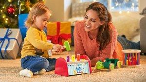 Imagen promocional de la oferta de juguetes de madera de Lidl