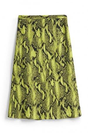 Falda flúor con estampado 'animal print'