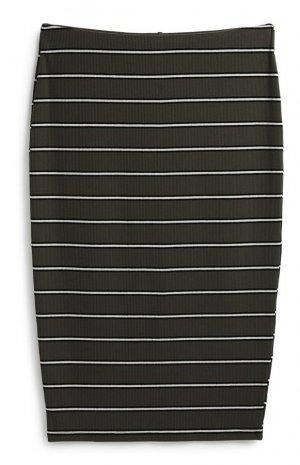 Falda midi de rayas