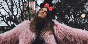 Laura Matamoros en sus vacaciones en Disneyland París