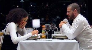 Mery y Yoyi en un momento de la cita de 'First Dates'