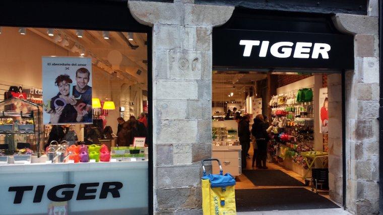 Imagen de la fachada de una tienda Tiger