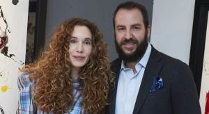 Blanca suárez y Borja Thyssen durante la exposición