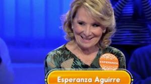 Esperanza Aguirre criticada por su paso en 'Pasapalabra'
