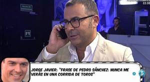 Jorge Javier habla por teléfono con Pedro Sánchez