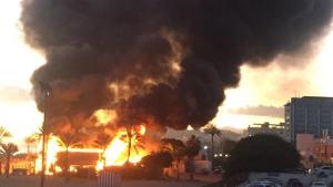 'Playa Padre' ardía por causas que todavía se desconocen