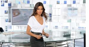 Sara Carbonero cuando presentaba los deportes en Telecinco