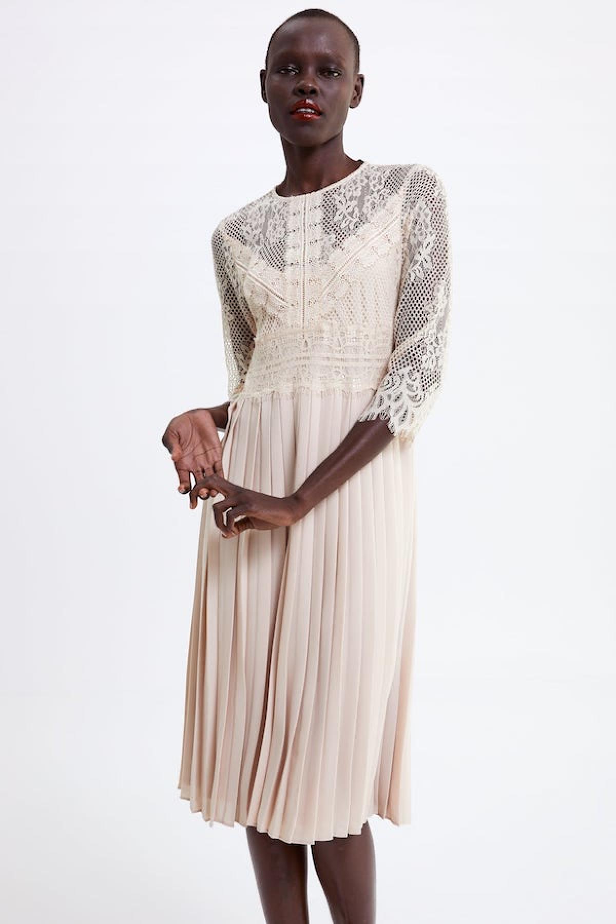 c37ea15b8 Zara: vestidos de novia baratos para boda civil y celebraciones ...