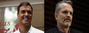 Pedro Sánchez es atacado por Miguel Bosé