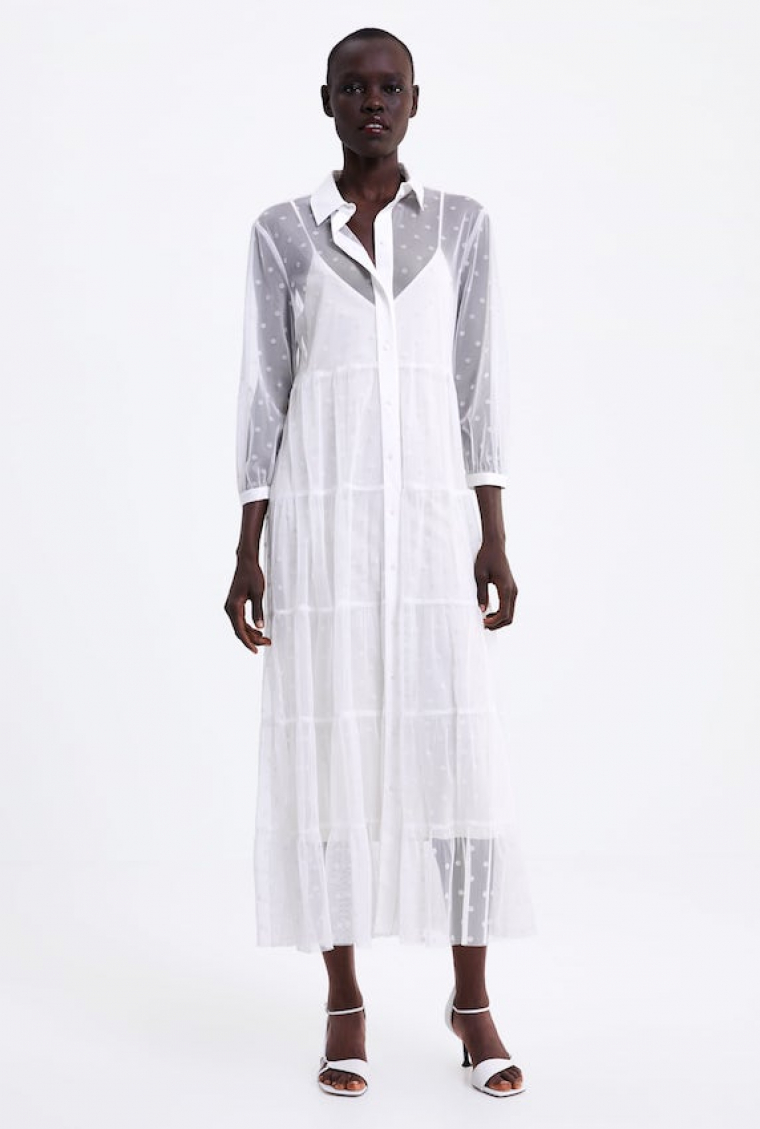 0b80e5c99 Zara  vestidos de novia baratos para boda civil y celebraciones ...