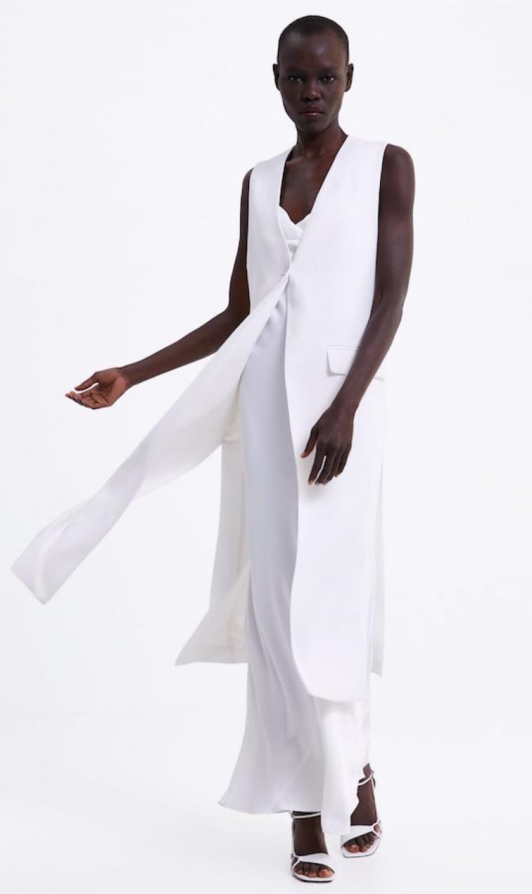 9c150a0575 Zara  vestidos de novia baratos para boda civil y celebraciones ...