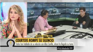 Courtois habla sobre Alba Carrillo