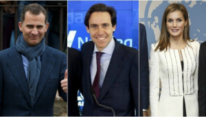 El rey Felipe, Javier López Madrid y la reina Letizia