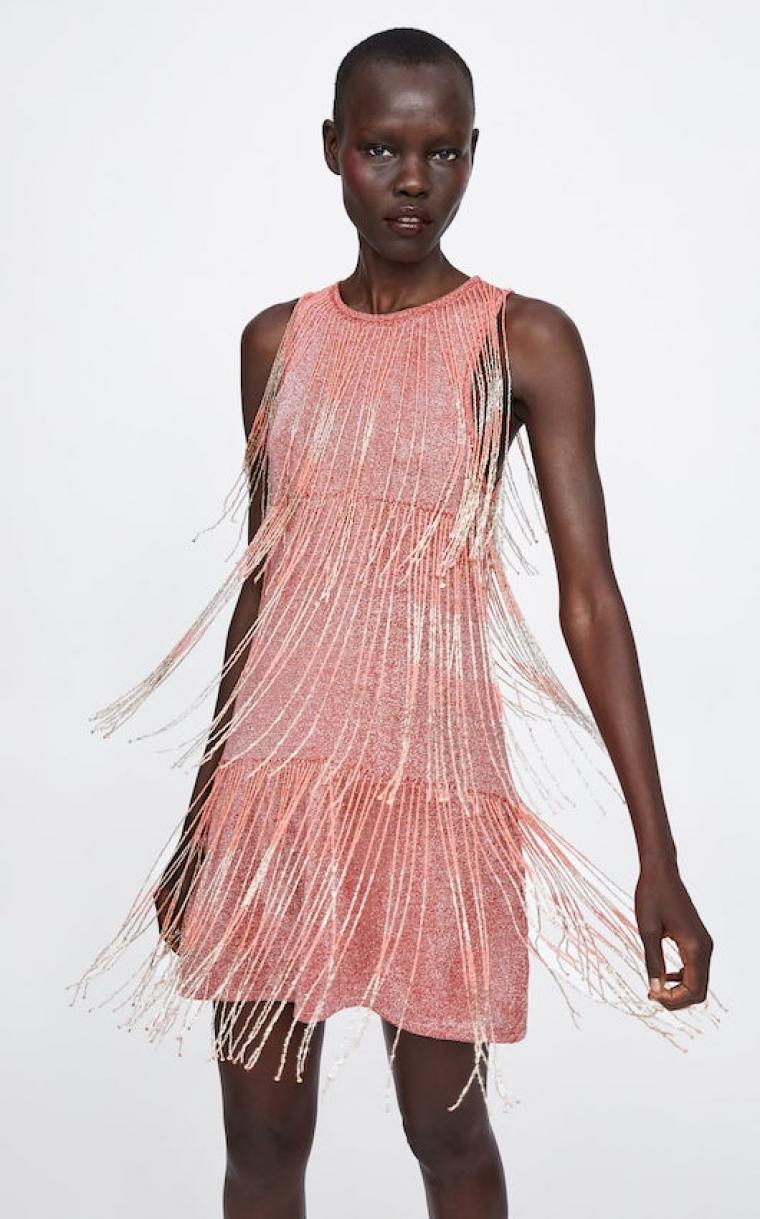 tienda de descuento online para la venta lindo baratas Este vestido de Zara es el mejor de la tendencia de flecos ...