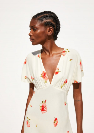 Vestido de flores de Zara