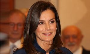 La reina Letizia en el último acto público en la sede de la Real Academia Española