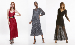 Modelos de vestidos de fiesta largos de Zara y Uterqüe