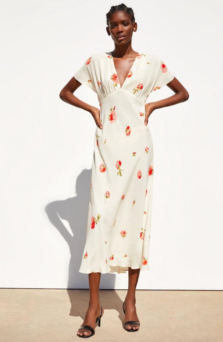 clásico incomparable sección especial Una vez más, un vestido floral de Zara se vuelve viral en ...
