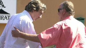 Imagen del rey Juan Carlos y Zourad Tchokotoua