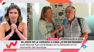 Sandra Barneda, junto al controlador español de la NASA, José Manuel Grandela