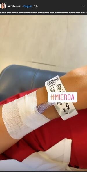 Aurah Ruiz ingresada en un hospital