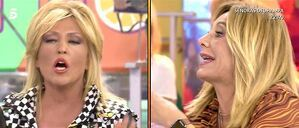Enfrentamiento entre Lydia Lozano y Belén Ro