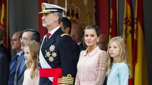 La Familia Real en el desfile del Día de la Hispanidad