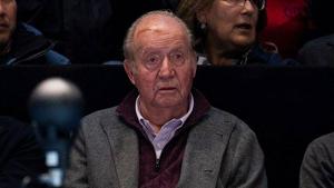 El rey Juan Carlos en las gradas durante el partido Nadal-Zverev