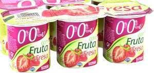 Paquete de yogures 0,0 marca Hacendado