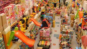 Interior de una tienda de jueguetes