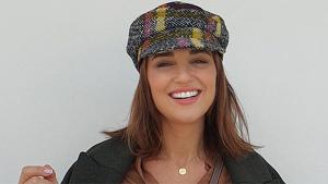 Paula Echevarría posando con su 'look' otoñal con prendas de Mango