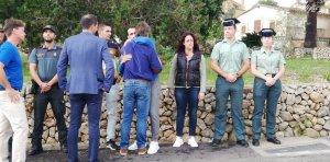 El director de la Guardia Civil ha visitado el destacamento que ha participado en la ayuda a la población