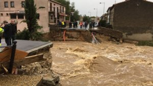 La riadas se han llevado algunos puentes en la demarcación de Aude
