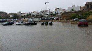 Campo anegado de agua en Menorca, este septiembre pasado