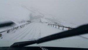 Estado de la carretera de las Cañadas del Teide, en Tenerife