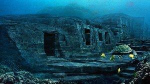 Recreación de la Atlántida bajo el océano