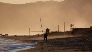 El viento del sur está soplando muy fuerte en el litoral de Cantabria