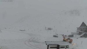 Estado del párking de una de las estaciones de esquí aragonesas