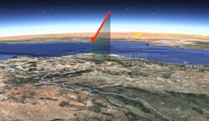 Recorrido que realizó el bólido en el cielo del sur de España