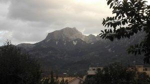 Por la madrugada ha nevado ligeramente en las montañas de Mallorca