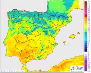 Las temperaturas suben en general, muy agradables y apenas calor en el sur