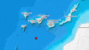 Mapa que indica el epicentro del terremoto