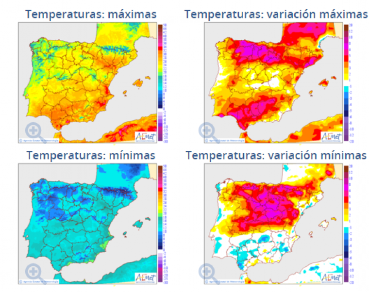 Ascenso importante y general de las temperaturas este viernes