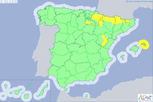 Mapa de alertas por tormenta para este viernes