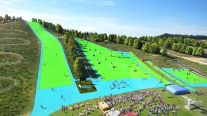 Imagen de unas pistas de esquí construídas por Neveplast