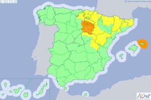Mapa de alertas para este martes