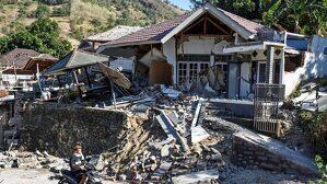 Efectos del terremoto de ayer viernes en Indonesia