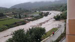 Aspecto actual del río Clariano por Aielo de Malferit